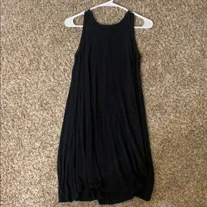 Black tank tee shirt dress